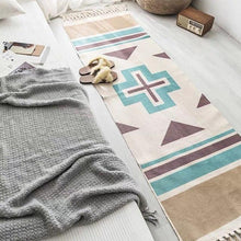 Load image into Gallery viewer, Hot Retro Bohemian Hand Woven Cotton Linen Carpet Tassel Rug - Targen