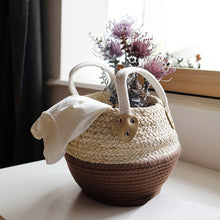 Load image into Gallery viewer, Natural Woven Storage Basket Multi-purpose Desktop Storage Box - Targen