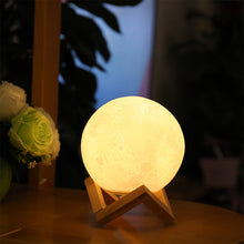 Load image into Gallery viewer, Lamp 3D Magical Two Tone Moon LED Night Light Touch Sensor - Targen