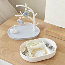Load image into Gallery viewer, Storage Box Tree Jewelry Organizer Include Swan Ring Necklace Earring Bracelet Holder - Targen