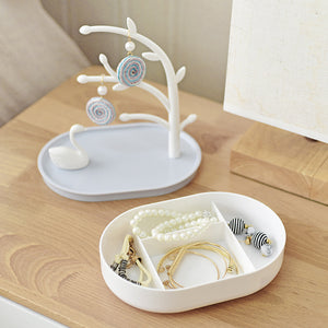 Storage Box Tree Jewelry Organizer Include Swan Ring Necklace Earring Bracelet Holder - Targen