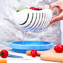 Load image into Gallery viewer, Creative Salad Cutting Bowl Fast Fruit Vegetable Salad Chopper Bowl