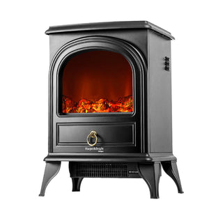 Compact Electric Fireplace Stove with Realistic Flame Overheating Safety Protection