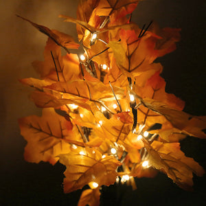 Artificial Fall Lighted Maple Tree 24 LED Table Lights Battery Operated for Home Decor