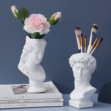 Load image into Gallery viewer, Greek-Roman Mythology David Head Sculpture Planter Vase - Targen