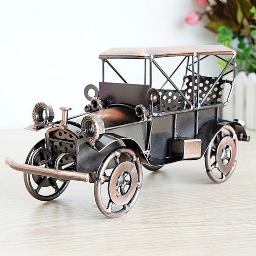 Metal Wrought Iron Classic car Model Home Interior Decoration - Targen