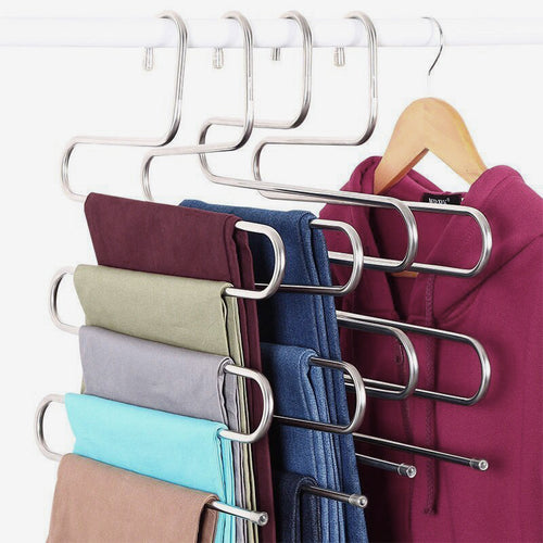 Coat Hangers 5-layer Stainless Tools Belt Coat Multilayer Storage Rack - Targen