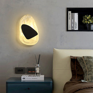 Modern Minimalist Art-Deco Sculptural Crystal Wall Lamp