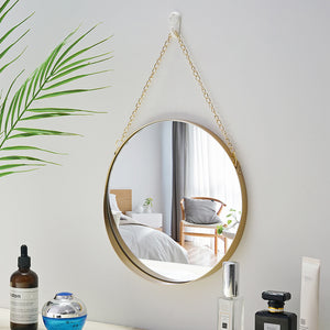 Bathroom Mirror Nordic Metal Round Wall Mount Mirror - Targen