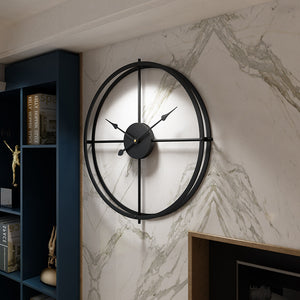 3D European Style Wall Clock Silent Watch For Hanging Decor - Targen
