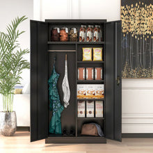 Load image into Gallery viewer, Steel Storage Cabinet with 4 Adjustable Shelves and Lockable Doors - Targen