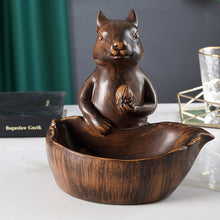 Load image into Gallery viewer, Resin Squirrel Nut Bowl Snack Storage Serving Dish Tissue Box - Targen