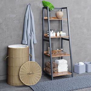 Four Layers Bookcase Plant Flower Stand Rack Storage Shelves for Home Décor