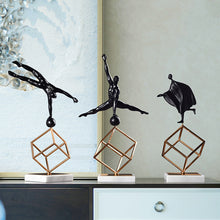 Load image into Gallery viewer, Modern Creative Gymnastic Figure Ornament Geometric Wrought Iron Model - Targen