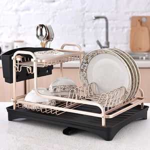 Aluminium Alloy Dish Rack Kitchen Plate Drying Drainer - Targen