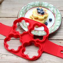 Load image into Gallery viewer, 4 Holes Fried Egg Mold Nonstick Silicone Baking Rings Muffin Pancake Mould