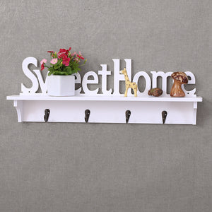 Key Hook Sweet Home  Coat Hat Clothes Rack Hanger - Targen