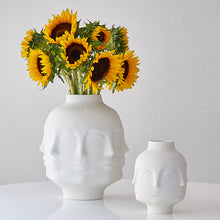 Load image into Gallery viewer, Flower Man Face Vase Modern Ceramic Flowers Pot - Targen