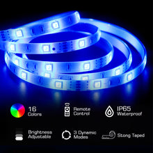 Load image into Gallery viewer, Led Strip Lights 32.8ft 10m with 44 Keys IR Remote Supply Flexible Color Changing Light Strips Kit - Targen