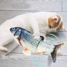 Load image into Gallery viewer, Realistic Plush Simulation Electric Doll Fish Flop Cat Toy - Targen