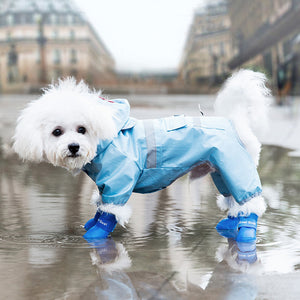 Soft Waterproof Pet Rain Shoes Cat Foot Cover