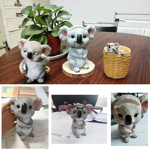 Koala Figurines Statues Resin Glasses Stand Pencil Sunglasses Holder - Targen