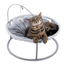 Load image into Gallery viewer, Cat Bed Soft Plush Cat Hammock Detachable Pet Bed with Dangling Ball