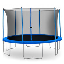 Load image into Gallery viewer, 13FT Outdoor Blue Trampoline For Fun