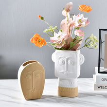 Load image into Gallery viewer, Ceramic Face Vase Simple Dried Flower Model Art Decoration - Targen
