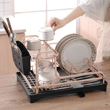 Load image into Gallery viewer, Aluminium Alloy Dish Rack Kitchen Plate Drying Drainer - Targen