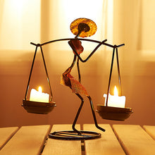 Load image into Gallery viewer, Retro Candlestick Nordic Metal Romantic Creative Candle Holder - Targen
