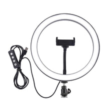 Load image into Gallery viewer, Phones Holder Stands with LED Beauty Ring Flash Lamp Light - Targen