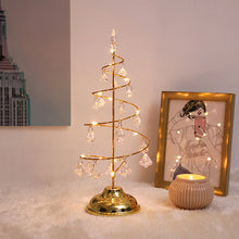 Load image into Gallery viewer, Crystal Christmas Tree Led Lights Room Copper Line Night Light - Targen
