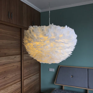 Feather Lamp Nordic Hanging Goose Lamp For Living Room Bedside Droplight - Targen