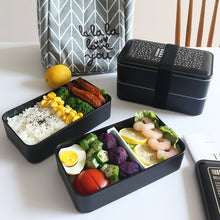 Load image into Gallery viewer, Microwave Lunch Box Portable Double Layer Dinnerware For Kids Or Workers - Targen