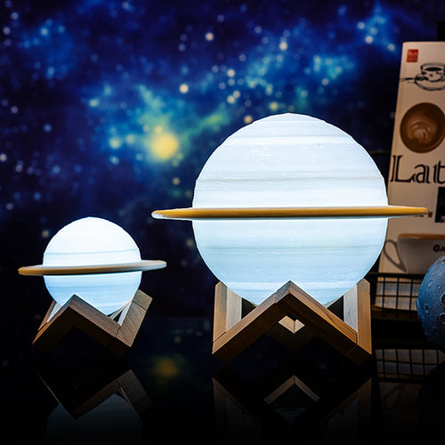 Creative 3D Print Saturn Lamp Smart Home LED Night Light - Targen