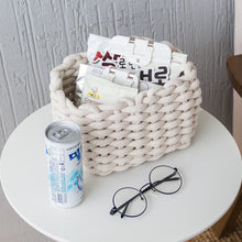 Load image into Gallery viewer, Storage Box Simple Hand-knitted Cotton Rope Storage Basket - Targen