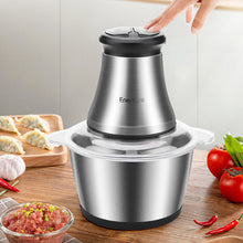 Load image into Gallery viewer, Stainless Steel Food Processor for Meat Vegetables Fruits and Nuts