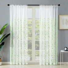 Load image into Gallery viewer, Curtains Leaf Embroidered Embroidery Sheer Curtain Panels Bedroom Rod Pocket Window Treatment - Targen