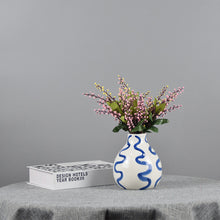 Load image into Gallery viewer, Targen Blue and White Flower Vase