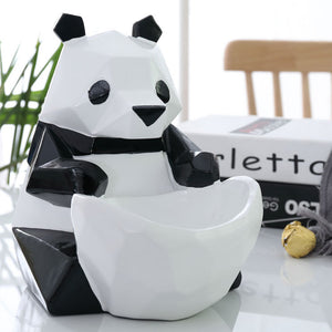 Storage Figurine Creative Panda Candy Box Statue Decoration - Targen