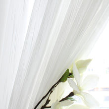 Load image into Gallery viewer, White Sheer Curtains Fabric Nordic Style Black Leaves Curtain - Targen