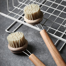 Load image into Gallery viewer, Pan Brush With Long Wooden Handle Oil Non-stick Cleaning Tools - Targen