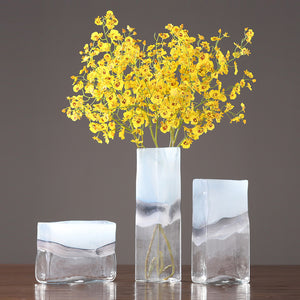 Modern Translucent Creative Glass Vase Flower Arrangement Decor - Targen