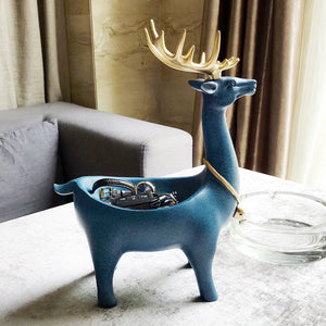 Resin Deer Design Jewelry Display Stand Keys Organizer Storage - Targen