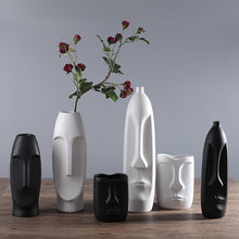 Load image into Gallery viewer, Minimalist Abstract Ceramic Creative Human Face Vase - Targen