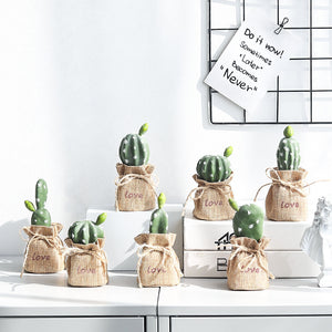 Nordic Decoration Resin Decorative Cactus Miniature Figurines - Targen