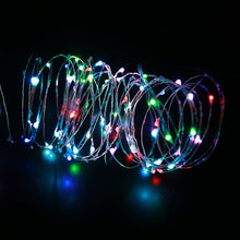 Load image into Gallery viewer, 33ft 100LEDs RGB Copper Wire Multicolor String Lights