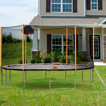 Load image into Gallery viewer, 14FT Outdoor Garden Powder-coated Trampoline With Basketball Hoop, Ladder and Enclosure