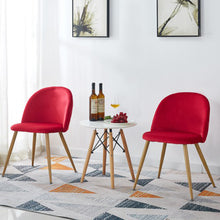 Load image into Gallery viewer, Chairs Lounge Leisure Soft Velvet Chairs with Wooden Style Metal Legs - Targen